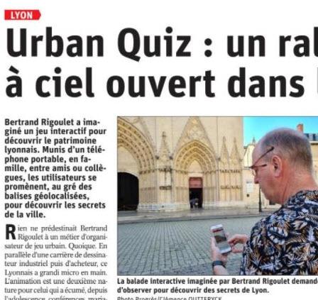 URBAN QUIZ : Article du progrès !